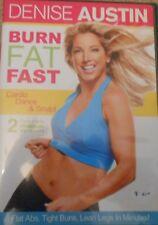 Denise Austin Burn Fat Fast Workout Exercise DVD Cardio Dance Sculpt Fitness