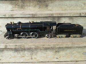 Prewar American Flyer wide gauge 4675 steam locomotive and tender (4692 - 4671)