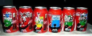 Collectable Coca Cola cans:  6 '' Cans For Fans '' sports 330ml (1996 GERMANY)
