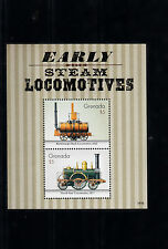 Grenada 2014 MNH Early Steam Locomotives 2v S/S Trains Railways Blenkinsops Rack