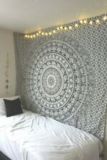 Indian Tapestry Wall Hangings Black and White Hippie Mandala Tapestry Wall Decor