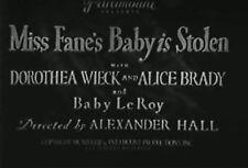 MISS FANE'S BABY IS STOLEN (1934) DVD DOROTHEA WIECK, ALICE BRADY