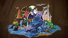New Wdw Villains Storybook T-Shirt Dragon,Ursula,Iago,Skull Rock,more Rare Ad Xl