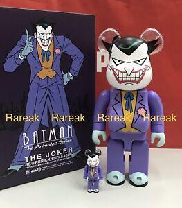 Medicom Bearbrick 2021 The Joker DC Batman Animated Series 400% + 100% Be@rbrick
