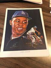 James Gilliam Union 76 Nick Volpe Print Los Angeles Dodgers 1962