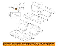 Rear Honda Genuine 82131-S9V-A32ZB Seat Cushion Trim Cover Right