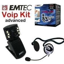 EMTEC Webcam Cuffie VoIP BUNDLE WEBCAM & HEADSET