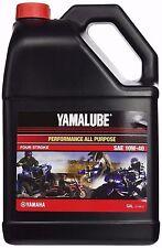 YAMALUBE GALLON 10W40 4-STROKE PERFORMANCE MOTOR OIL LUB-10W40-AP-04 YAMAHA