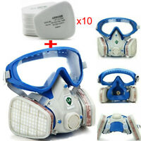 Double Filter Painting Spraying Respirator Facepiece Chemical Full Face Gas Mask