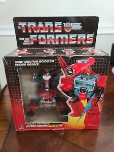 1985 Transformers G1 PERCEPTOR *Vintage* 100% complete w/box
