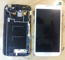 White LCD Screen Touch Digitizer Assembly +Frame for Samsung Galaxy Note 2 N7100