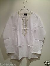 Maloup Blouse Manches longues Coton blanc 10 12 14 16 Ans Neuf