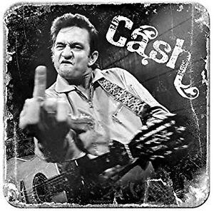 Nostalgic Art dessous de Verre Métalliques Johnny Cash Doigt Dessous Liège 9 x 9