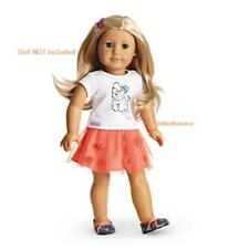 New American Girl doll's Coconut Cutie Outfit~Pet Puppy Graphic Tee~Skirt~Shoes