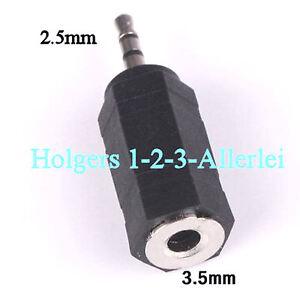 Adapter Klinkenstecker Klinke Stereo 2,5 Stecker auf 3,5 Kupplung