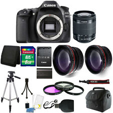 Canon Eos 80D 24.2Mp Digital Slr Camera with 18-55mm Lens + 8Gb Top Bundle