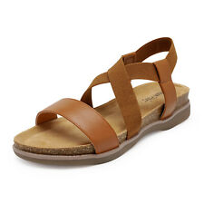 Dream Pairs Women's Flat Sandals Open Toe Elastic Cross Strap Summer Shoes Us