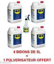 WD40 4 bidons 5 litres + pulvérisateur dégrippant nettoyant anti-humidité WD-40