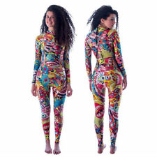 3mm Neoprene Winter women long wetsuit color print stitching surfing diving suit
