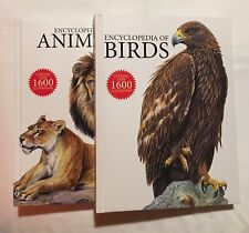 Encyclopedia of Animals & Birds 2 Book LOT BRAND NEW