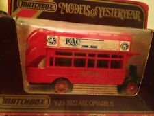 Matchbox Models Of Yesteryear Y23 1922 Aec Omnibus London Bus Mint Mib Box