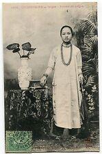 CARTE POSTALE CHINE COCHINCHINE SAIGON FEMME DE SAIGON 1906