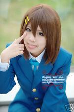 Hirasawa Yui / Suzumiya Haruhi Brown Short Cosplay Wig + yellow Clips +Free cap