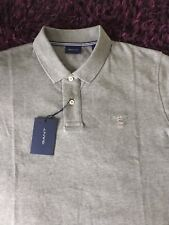 BNWT Smart 100% Genuino Gant Gris Melange Polo Camisa en Grandes