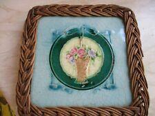 antique tile teapot/trivet stand