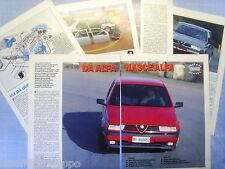 QUATTROR992-PROVA SU STRADA/ROAD TEST-1992- ALFA ROMEO 155 TS 1.8L -6 fogli