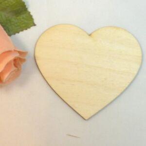Herz aus Holz Gechenk zur Hochzeit Geburtstag Tischdeko Streuteile Vintage 14 cm
