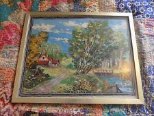 Handmade Welsh Tapestry, Farmhouse, Framed, 35cm x 44cm