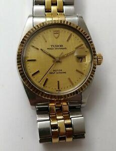 2 Tones Tudor Prince Oysterdate Automatic 74033 Men's Watch W/Hack