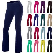 Womens Wide Leg Casual Running Trousers Flared Slim Yoga Pants Harem Leggings AS