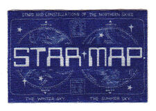 """STAR MAP"" PATCH - ASTRONOMY - ASTROLOGY - STARS  - Iron On Embroidered Patch"