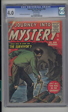 Journey into Mystery #28 CGC 4.0 VG Unrestored Atlas Marvel Scarce OW Pages