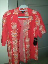 Volcom Hawaiian Allsaints Topman Medium Hawaii Floral M Button Down Up Shirt