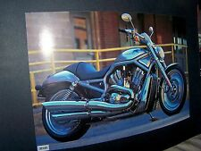 2002 Harley Davidson Motorcycle Print Picture Photo Man Cave Bar V-ROD  23x15