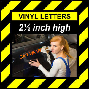 8 Characters 2.5 inch 64mm high pre-spaced stick on vinyl letters & numbers