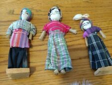 Ethnic primitive handmade wire dolls from Mexico or South America Arab Egyptian