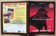 ALBUM FIGURINE LA MASCHERA DI ZORRO - Ed. Edigamma, 1998 - VUOTO* (+17) OTTIMO