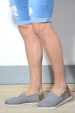 New Mens Slip On Casual Canvas Espadrilles Summer Plimsolls Trainers Pumps Shoes