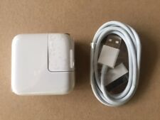 ONE SET - 12 Watt 2.4 AMP Wall Charger for iPad 2,3,4, or 5 USB and 30 pin sync