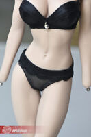 1/6 Female Black Bra corsage Camisole Briefs Clothes fit 12'' TBL JO Figure