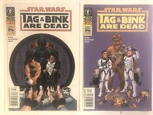 Star Wars Dark Horse Tag and Bink Are Dead Series 1 & 2 Lot Bundle Comics A+