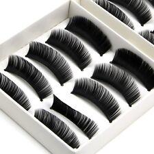 10 Pairs Thick Natural Fake False Eyelashes Eye Lashes