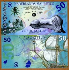 Netherlands Mauritius, 50 Gulden, 2016, Private POLYMER, UNC  > Extinct Dodo
