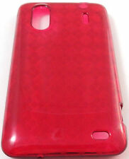 Red Argyle TPU GEL Case Cover for HTC Evo Design 4G Hero S Kingdom