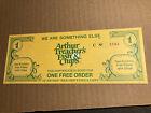 Vtg 1970's Arthur Treacher's Fish & Chips Restaurant Gift Certificate