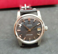 VINTAGE 1958 OMEGA SEAMASTER BLACK DIAL DATE CAL:503 AUTOMATIC MAN'S WATCH